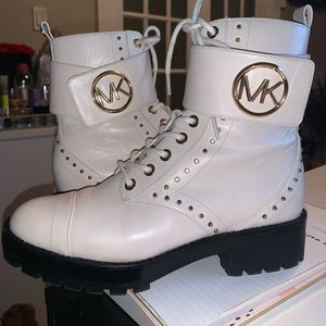 Michael Kors combat boots with gold studs